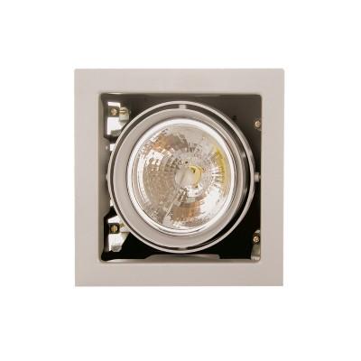 Lightstar CARDANO 214117 СветильникКарданные<br><br><br>Тип лампы: галогенная/LED<br>Тип цоколя: DR111<br>Количество ламп: 1<br>MAX мощность ламп, Вт: 50W<br>Размеры: Размер врезного отверстия 165 x 165  Высота врезного отверстия<br>Цвет арматуры: титан