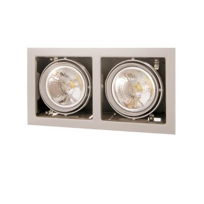 Lightstar CARDANO 214127 СветильникКарданные<br><br><br>Тип лампы: галогенная/LED<br>Тип цоколя: DR111<br>Цвет арматуры: титан<br>Количество ламп: 1<br>Ширина, мм: 185<br>Размеры: Размер врезного отверстия 165 x 325  Высота врезного отверстия<br>Длина, мм: 345<br>MAX мощность ламп, Вт: 50W