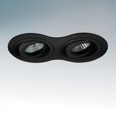 Lightstar INTERO 214227 СветильникОвальные<br><br><br>Тип товара: Светильник<br>Тип лампы: галогенная/LED<br>Тип цоколя: GU10<br>Количество ламп: 2<br>Ширина, мм: 90<br>MAX мощность ламп, Вт: 50<br>Диаметр врезного отверстия, мм: 77<br>Длина, мм: 173<br>Высота, мм: 4<br>Цвет арматуры: черный