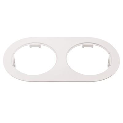 Lightstar DOMINO 214656 Рамка для светильникаДаунлайты<br><br><br>Тип цоколя: МR16<br>Цвет арматуры: белый<br>Ширина, мм: 115<br>Длина, мм: 210