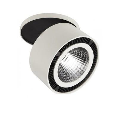Светильник Lightstar 214840 FORTEМеталлические потолочные светильники<br><br><br>Цветовая t, К: 4000<br>Тип лампы: LED - светодиодная<br>Тип цоколя: LED, встроенные светодиоды<br>Цвет арматуры: белый/черный<br>Количество ламп: 1<br>Диаметр, мм мм: 126<br>Глубина, мм: 22<br>Диаметр врезного отверстия, мм: 115<br>Высота, мм: 117<br>Поверхность арматуры: матовая<br>Оттенок (цвет): белый<br>MAX мощность ламп, Вт: 40