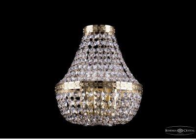 Светильник настенный бра Bohemia Ivele 2150/3/GХрустальные<br><br><br>Тип товара: Светильник настенный бра<br>Тип лампы: накаливания / энергосбережения / LED-светодиодная<br>Тип цоколя: E14<br>Количество ламп: 3<br>MAX мощность ламп, Вт: 60<br>Размеры: Диаметр - 21*10см<br>Цвет арматуры: золотой