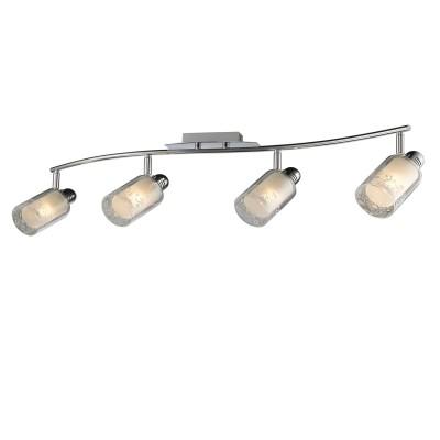 Светильник Colosseo 21604/4 RENEOС 4 лампами<br><br><br>Тип товара: споты<br>Тип лампы: накаливания / энергосбережения / LED-светодиодная<br>Тип цоколя: E14<br>Количество ламп: 4<br>Ширина, мм: 890<br>MAX мощность ламп, Вт: 60<br>Диаметр, мм мм: 890<br>Длина, мм: 200<br>Высота, мм: 180<br>Цвет арматуры: серебристый