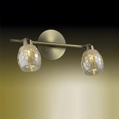 Светильник Odeon light 2166/2W Glosse бронзадвойные светильники споты<br><br><br>S освещ. до, м2: 5<br>Тип лампы: галогенная / LED-светодиодная<br>Тип цоколя: G9<br>Цвет арматуры: золотой<br>Количество ламп: 2<br>Ширина, мм: 325<br>Расстояние от стены, мм: 190<br>Высота, мм: 190<br>MAX мощность ламп, Вт: 40