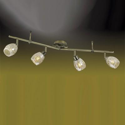 Светильник Odeon light 2166/4W Glosse бронзаС 4 лампами<br><br><br>S освещ. до, м2: 10<br>Тип товара: Светильник поворотный спот<br>Скидка, %: 41<br>Тип лампы: галогенная / LED-светодиодная<br>Тип цоколя: G9<br>Количество ламп: 4<br>Ширина, мм: 110<br>MAX мощность ламп, Вт: 40<br>Длина, мм: 710<br>Расстояние от стены, мм: 190<br>Цвет арматуры: золотой