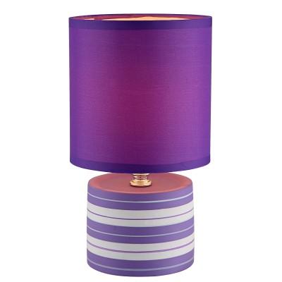 Светильник Globo 21661Современные настольные лампы модерн<br>Настольная лампа – это не просто источник дополнительного освещения, но и оригинальный элемент декора. Его можно установить в спальне, гостиной, кабинете и других комнатах. Интернет-магазин «Светодом» предлагает настольные лампы разных стилей по доступным ценам. Благодаря большому ассортименту Вы обязательно найдете в нашем каталоге именно ту модель, которую искали.   Настольная лампа Globo 21661 – прекрасный вариант для завершения интерьера. Ее можно включить одновременно с люстрой для более яркого освещения или без нее для создания уютной атмосферы, настраивающей на отдых.   Купить настольную лампу Globo 21661 Вы можете с помощью виртуальной «Корзины» или по контактным номерам, указанным на сайте.<br><br>Тип цоколя: E14<br>Цвет арматуры: фиолетовый<br>Количество ламп: 1<br>Диаметр, мм мм: 140<br>Высота, мм: 260<br>MAX мощность ламп, Вт: 40