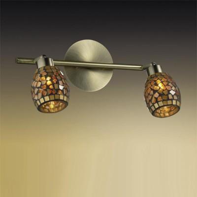 Светильник Odeon light 2167/2W Glosse бронзаДвойные<br>Светильники-споты – это оригинальные изделия с современным дизайном. Они позволяют не ограничивать свою фантазию при выборе освещения для интерьера. Такие модели обеспечивают достаточно качественный свет. Благодаря компактным размерам Вы можете использовать несколько спотов для одного помещения.  Интернет-магазин «Светодом» предлагает необычный светильник-спот Odeon light 2167/2W по привлекательной цене. Эта модель станет отличным дополнением к люстре, выполненной в том же стиле. Перед оформлением заказа изучите характеристики изделия.  Купить светильник-спот Odeon light 2167/2W в нашем онлайн-магазине Вы можете либо с помощью формы на сайте, либо по указанным выше телефонам. Обратите внимание, что у нас склады не только в Москве и Екатеринбурге, но и других городах России.<br><br>S освещ. до, м2: 5<br>Тип лампы: галогенная / LED-светодиодная<br>Тип цоколя: G9<br>Цвет арматуры: желтый<br>Количество ламп: 2<br>Ширина, мм: 325<br>Расстояние от стены, мм: 190<br>Высота, мм: 190<br>MAX мощность ламп, Вт: 40