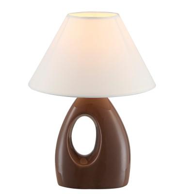 Светильник Globo 21672Современные<br>Настольная лампа – это не просто источник дополнительного освещения, но и оригинальный элемент декора. Его можно установить в спальне, гостиной, кабинете и других комнатах. Интернет-магазин «Светодом» предлагает настольные лампы разных стилей по доступным ценам. Благодаря большому ассортименту Вы обязательно найдете в нашем каталоге именно ту модель, которую искали.   Настольная лампа Globo 21672 – прекрасный вариант для завершения интерьера. Ее можно включить одновременно с люстрой для более яркого освещения или без нее для создания уютной атмосферы, настраивающей на отдых.   Купить настольную лампу Globo 21672 Вы можете с помощью виртуальной «Корзины» или по контактным номерам, указанным на сайте.<br><br>Тип лампы: Накаливания / энергосбережения / светодиодная<br>Тип цоколя: E14<br>Цвет арматуры: коричневый<br>Количество ламп: 1<br>Диаметр, мм мм: 200<br>Высота, мм: 260<br>MAX мощность ламп, Вт: 40