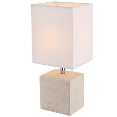 Настольная лампа Globo 21675Белые<br>Настольная лампа – это не просто источник дополнительного освещения, но и оригинальный элемент декора. Его можно установить в спальне, гостиной, кабинете и других комнатах. Интернет-магазин «Светодом» предлагает настольные лампы разных стилей по доступным ценам. Благодаря большому ассортименту Вы обязательно найдете в нашем каталоге именно ту модель, которую искали.   Настольная лампа Globo 21675 – прекрасный вариант для завершения интерьера. Ее можно включить одновременно с люстрой для более яркого освещения или без нее для создания уютной атмосферы, настраивающей на отдых.   Купить настольную лампу Globo 21675 Вы можете с помощью виртуальной «Корзины» или по контактным номерам, указанным на сайте.<br><br>Тип цоколя: E14<br>Цвет арматуры: бежевый<br>Количество ламп: 1<br>Ширина, мм: 130<br>Длина, мм: 110<br>Высота, мм: 290<br>MAX мощность ламп, Вт: 40