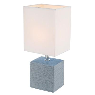Светильник Globo 21676Современные<br>Настольная лампа – это не просто источник дополнительного освещения, но и оригинальный элемент декора. Его можно установить в спальне, гостиной, кабинете и других комнатах. Интернет-магазин «Светодом» предлагает настольные лампы разных стилей по доступным ценам. Благодаря большому ассортименту Вы обязательно найдете в нашем каталоге именно ту модель, которую искали.   Настольная лампа Globo 21676 – прекрасный вариант для завершения интерьера. Ее можно включить одновременно с люстрой для более яркого освещения или без нее для создания уютной атмосферы, настраивающей на отдых.   Купить настольную лампу Globo 21676 Вы можете с помощью виртуальной «Корзины» или по контактным номерам, указанным на сайте.<br><br>Тип лампы: Накаливания / энергосбережения / светодиодная<br>Тип цоколя: E14<br>Цвет арматуры: серебристый<br>Количество ламп: 1<br>Ширина, мм: 130<br>Длина, мм: 110<br>Высота, мм: 290<br>MAX мощность ламп, Вт: 40