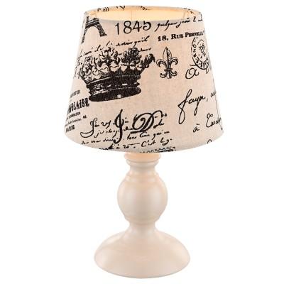 Настольная лампа Globo 21692Классические<br><br><br>Тип товара: Настольная лампа<br>Скидка, %: 22<br>Тип лампы: Накаливания / энергосбережения / светодиодная<br>Тип цоколя: E14<br>Количество ламп: 1<br>MAX мощность ламп, Вт: 40<br>Диаметр, мм мм: 170<br>Высота, мм: 280<br>Цвет арматуры: белый