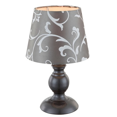 Светильник Globo 21693Современные<br><br><br>Тип товара: Настольная лампа<br>Скидка, %: 21<br>Тип лампы: Накаливания / энергосбережения / светодиодная<br>Тип цоколя: E14<br>Количество ламп: 1<br>MAX мощность ламп, Вт: 40<br>Диаметр, мм мм: 170<br>Высота, мм: 280<br>Цвет арматуры: серый