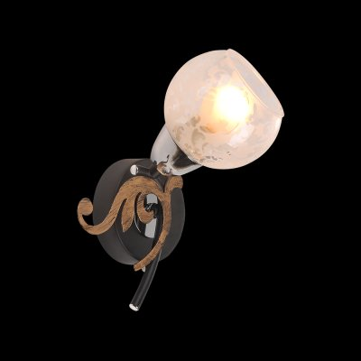 Светильник Idlamp 216/1A Blackchromeсовременные бра модерн<br><br><br>S освещ. до, м2: 4<br>Крепление: Настенные<br>Тип цоколя: E14<br>Цвет арматуры: черный<br>Количество ламп: 1<br>Ширина, мм: 150<br>Расстояние от стены, мм: 180<br>Высота, мм: 230<br>Оттенок (цвет): Полупрозрачный<br>MAX мощность ламп, Вт: 60