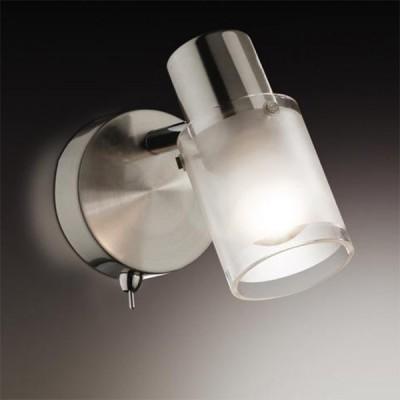 Светильник Odeon light 2175/1W Parfe никель с выклОдиночные<br>Допускается установка светильника на вертикальную поверхность - стену и горизонтальную поверхность - потолок.<br><br>S освещ. до, м2: 2<br>Тип лампы: накал-я - энергосбер-я<br>Тип цоколя: E14<br>Количество ламп: 1<br>MAX мощность ламп, Вт: 40<br>Расстояние от стены, мм: 100<br>Высота, мм: 170<br>Цвет арматуры: серый