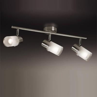 Светильник Odeon light 2175/3W Parfe никельТройные<br>Допускается установка светильника на вертикальную поверхность - стену и горизонтальную поверхность - потолок.<br><br>S освещ. до, м2: 8<br>Тип товара: Светильник поворотный спот<br>Тип лампы: накал-я - энергосбер-я<br>Тип цоколя: E14<br>Количество ламп: 3<br>Ширина, мм: 475<br>MAX мощность ламп, Вт: 40<br>Высота, мм: 185<br>Цвет арматуры: серый