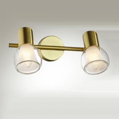 Светильник Odeon light 2176/2W Moss мат золотоДвойные<br>Допускается установка светильника на вертикальную поверхность - стену и горизонтальную поверхность - потолок.<br><br>S освещ. до, м2: 5<br>Тип лампы: накал-я - энергосбер-я<br>Тип цоколя: E14<br>Количество ламп: 2<br>Ширина, мм: 275<br>MAX мощность ламп, Вт: 40<br>Высота, мм: 175<br>Цвет арматуры: бронзовый