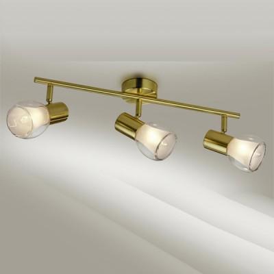Светильник Odeon light 2176/3W Moss мат золотоТройные<br>Допускается установка светильника на вертикальную поверхность - стену и горизонтальную поверхность - потолок.<br><br>S освещ. до, м2: 8<br>Тип товара: Светильник поворотный спот<br>Тип лампы: накал-я - энергосбер-я<br>Тип цоколя: E14<br>Количество ламп: 3<br>Ширина, мм: 475<br>MAX мощность ламп, Вт: 40<br>Высота, мм: 175<br>Цвет арматуры: бронзовый