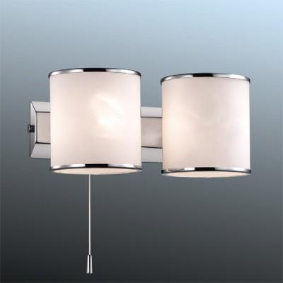 Светильник Odeon Light 2182/2W хром PaluМодерн<br><br><br>S освещ. до, м2: 5<br>Крепление: планка<br>Тип товара: Светильник настенный бра<br>Тип лампы: галогенная / LED-светодиодная<br>Тип цоколя: G9<br>Количество ламп: 2<br>MAX мощность ламп, Вт: 40<br>Длина, мм: 210<br>Высота, мм: 95<br>Цвет арматуры: серебристый