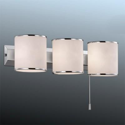Светильник Odeon Light 2182/3W хром PaluМодерн<br><br><br>S освещ. до, м2: 8<br>Крепление: планка<br>Тип лампы: галогенная / LED-светодиодная<br>Тип цоколя: G9<br>Количество ламп: 3<br>MAX мощность ламп, Вт: 40<br>Длина, мм: 330<br>Высота, мм: 95<br>Цвет арматуры: серебристый