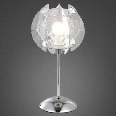 Светильник Globo 21827 PolluxХай тек<br>Настольная лампа – это не просто источник дополнительного освещения, но и оригинальный элемент декора. Его можно установить в спальне, гостиной, кабинете и других комнатах. Интернет-магазин «Светодом» предлагает настольные лампы разных стилей по доступным ценам. Благодаря большому ассортименту Вы обязательно найдете в нашем каталоге именно ту модель, которую искали.   Настольная лампа Globo 21827 – прекрасный вариант для завершения интерьера. Ее можно включить одновременно с люстрой для более яркого освещения или без нее для создания уютной атмосферы, настраивающей на отдых.   Купить настольную лампу Globo 21827 Вы можете с помощью виртуальной «Корзины» или по контактным номерам, указанным на сайте.<br><br>Тип лампы: накал-я - энергосбер-я<br>Тип цоколя: E14<br>Цвет арматуры: серебристый<br>Количество ламп: 1<br>Диаметр, мм мм: 180<br>Высота, мм: 360<br>MAX мощность ламп, Вт: 40