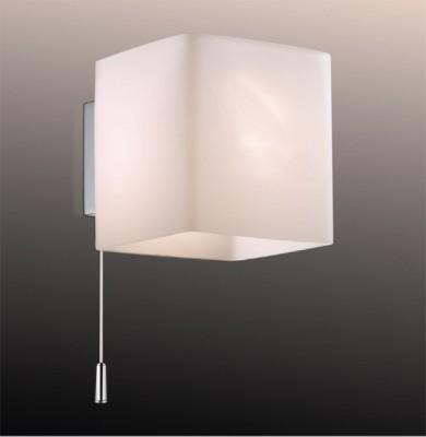 Светильник Odeon Light 2183/1W хром FaroСовременные<br><br><br>S освещ. до, м2: 2<br>Крепление: планка<br>Тип лампы: галогенная / LED-светодиодная<br>Тип цоколя: G9<br>Цвет арматуры: серебристый<br>Количество ламп: 1<br>Длина, мм: 90<br>Высота, мм: 95<br>MAX мощность ламп, Вт: 40