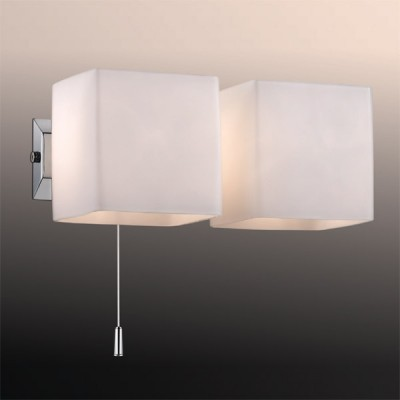 Светильник Odeon Light 2183/2W хром FaroСовременные<br><br><br>S освещ. до, м2: 5<br>Крепление: планка<br>Тип лампы: галогенная / LED-светодиодная<br>Тип цоколя: G9<br>Цвет арматуры: серебристый<br>Количество ламп: 2<br>Длина, мм: 210<br>Высота, мм: 95<br>MAX мощность ламп, Вт: 40