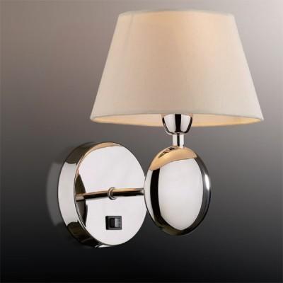 Светильник Odeon Light 2195/1W хром HotelКлассические<br><br><br>S освещ. до, м2: 2<br>Тип лампы: накаливания / энергосбережения / LED-светодиодная<br>Тип цоколя: E14<br>Цвет арматуры: серебристый<br>Количество ламп: 1<br>Ширина, мм: 196<br>Высота, мм: 224<br>MAX мощность ламп, Вт: 40