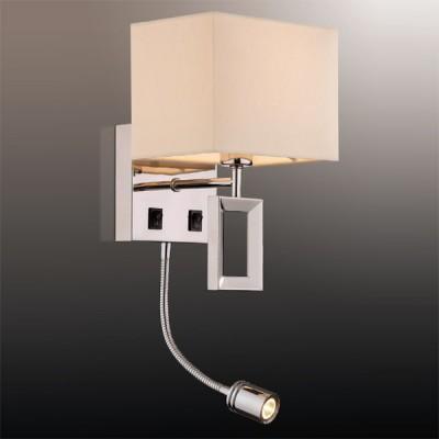 Светильник Odeon Light 2197/1A хром AtoloКлассические<br><br><br>S освещ. до, м2: 2<br>Тип лампы: накаливания / энергосбережения / LED-светодиодная<br>Тип цоколя: E14, LED<br>Цвет арматуры: серебристый<br>Количество ламп: 1+LED<br>Ширина, мм: 170<br>Высота, мм: 253<br>MAX мощность ламп, Вт: 40