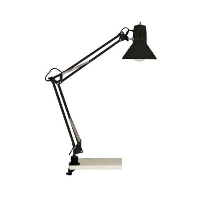 Светильник настольный Brilliant 10802/06 HobbyНа струбцине<br><br><br>S освещ. до, м2: 4<br>Тип товара: Настольная лампа<br>Тип лампы: накал-я - энергосбер-я<br>Тип цоколя: E27<br>Количество ламп: 1<br>MAX мощность ламп, Вт: 60<br>Диаметр, мм мм: 170<br>Выступ, мм: 650<br>Высота, мм: 700<br>Цвет арматуры: черный