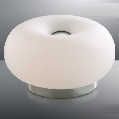 Светильник настольный Odeon light 2205/2T хром PatiВ виде шара<br>Стильная и эффектная настольная лампа Odeon light 2205/2T хром Pati станет не только подсветкой рабочего или журнального столика, но и источником Вашего хорошего настроения! Объемная круглая форма матового белого оттенка как будто наполнена воздухом, создаваемое освещение получается «мягким» и приятным для зрения. Лампа подключается в считанные мгновения, а при необходимости ее можно легко перенести в любое другое место. Рекомендуем в качестве основного источника света использовать потолочный или подвесной светильник из этой же серии, чтобы интерьер выглядел по-дизайнерски профессиональным и уютным.<br><br>S освещ. до, м2: 12<br>Тип лампы: накал-я - энергосбер-я<br>Тип цоколя: E27<br>Количество ламп: 3<br>MAX мощность ламп, Вт: 60<br>Диаметр, мм мм: 280<br>Высота, мм: 150<br>Цвет арматуры: серебристый