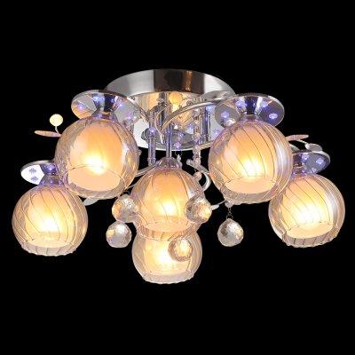 Люстра Idlamp 220/6PF Chromeснятые с производства светильники<br><br><br>Установка на натяжной потолок: Ограничено<br>S освещ. до, м2: 24<br>Крепление: Планка<br>Тип цоколя: Е14 + LED RGB<br>Цвет арматуры: серебристый<br>Количество ламп: 6 + LED RGB<br>Диаметр, мм мм: 540<br>Высота, мм: 240<br>Оттенок (цвет): янтарный<br>MAX мощность ламп, Вт: 60