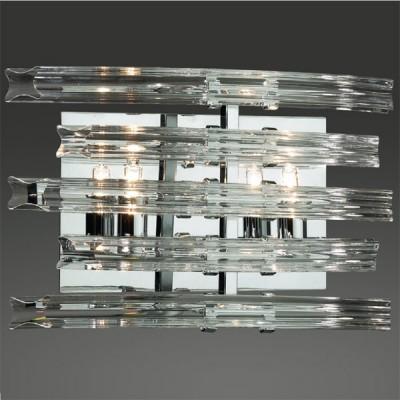 Светильник Odeon Light 2211/2W хром MelaniХрустальные<br><br><br>S освещ. до, м2: 5<br>Тип товара: Светильник настенный бра<br>Скидка, %: 75<br>Тип лампы: галогенная / LED-светодиодная<br>Тип цоколя: G9<br>Количество ламп: 2<br>Ширина, мм: 280<br>MAX мощность ламп, Вт: 40<br>Высота, мм: 170<br>Цвет арматуры: серебристый