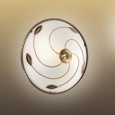Потолочный светильник Сонекс 2213 бронза/белый BARZOКруглые<br><br><br>S освещ. до, м2: 8<br>Тип товара: Светильник настенно-потолочный<br>Скидка, %: 42<br>Тип лампы: накаливания / энергосбережения / LED-светодиодная<br>Тип цоколя: E27<br>Количество ламп: 2<br>MAX мощность ламп, Вт: 60<br>Диаметр, мм мм: 360<br>Высота, мм: 160<br>Цвет арматуры: бронзовый