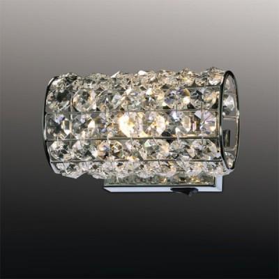 Светильник Odeon Light 2217/1W хром Lodenхрустальные бра<br><br><br>S освещ. до, м2: 2<br>Крепление: планка<br>Тип лампы: галогенная / LED-светодиодная<br>Тип цоколя: G9<br>Цвет арматуры: серебристый<br>Количество ламп: 1<br>Длина, мм: 150<br>Расстояние от стены, мм: 100<br>MAX мощность ламп, Вт: 40