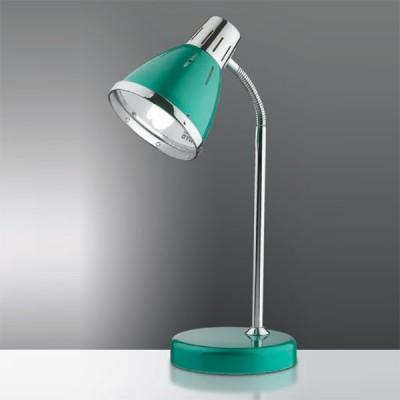Светильник настольный Odeon light 2223/1T зеленый HintОфисные<br>Настольная лампа для современного офиса – это источник яркого света и, в тоже время,  неоспоримый элемент престижного дизайна всего интерьера. Поэтому необходимо отдавать предпочтение комплексному подходу к выбору изделий для рабочего пространства. Предлагаем Вашему вниманию стильную настольную лампу Odeon light 2223/1T, которую отличает насыщенность светового потока, дополненная лаконичной формой. Изделие изначально представлено в классической вариации дизайна, но особое цветовое решение придаёт ему свежие ноты. Перламутрово-зелёный отлив наполняет лампу Odeon light 2223/1T  благородным сиянием и престижной огранкой, что станет истинным достоянием Вашего рабочего пространства.<br><br>S освещ. до, м2: 4<br>Тип лампы: накал-я - энергосбер-я<br>Тип цоколя: E27<br>Количество ламп: 1<br>Ширина, мм: 160<br>MAX мощность ламп, Вт: 60<br>Высота, мм: 270<br>Цвет арматуры: зеленый