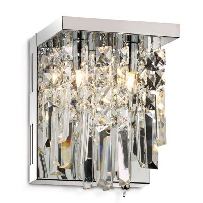 Светильник Odeon Light 2231/2W хром LolaХрустальные<br><br><br>S освещ. до, м2: 5<br>Тип лампы: галогенная / LED-светодиодная<br>Тип цоколя: G9<br>Количество ламп: 2<br>Ширина, мм: 200<br>MAX мощность ламп, Вт: 40<br>Высота, мм: 160<br>Цвет арматуры: серебристый
