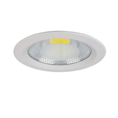 Светильник Lightstar 223302 FORTOКруглые<br><br><br>Цветовая t, К: 3000<br>Тип лампы: LED<br>Диаметр, мм мм: 227<br>Глубина, мм: 70<br>Диаметр врезного отверстия, мм: 195<br>Цвет арматуры: белый