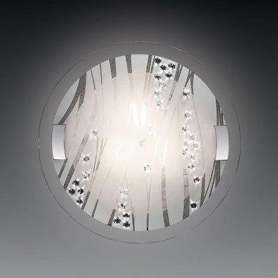 Светильник Сонекс 2232 Lakri белый/хрустальКруглые<br><br><br>S освещ. до, м2: 8<br>Тип товара: Светильник настенно-потолочный<br>Тип лампы: накаливания / энергосбережения / LED-светодиодная<br>Тип цоколя: E27<br>Количество ламп: 2<br>MAX мощность ламп, Вт: 60<br>Диаметр, мм мм: 400<br>Цвет арматуры: серебристый