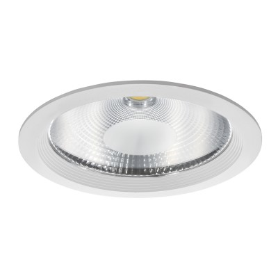 Светильник встраиваемый светодиодный Lightstar 223504 Fortoметаллические встраиваемые светильники<br>Врезное отверстие: d195 h115; Внешние габариты: D227 H2; Материал - основание/плафон: металл/металл, стекло; Цвет-основание/плафон: белый; Лампа: LED 50W= 500W, Световой поток: 4500LM; 4000К; Время жизни: Н; Угол рассеивания: 120G