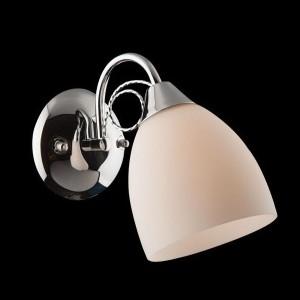 Светильник бра Евросвет 22415/1 хромСовременные<br><br><br>S освещ. до, м2: 2<br>Тип лампы: накаливания / энергосбережения / LED-светодиодная<br>Тип цоколя: E27<br>Количество ламп: 1<br>MAX мощность ламп, Вт: 40<br>Длина, мм: 120<br>Высота, мм: 240<br>Цвет арматуры: серебристый