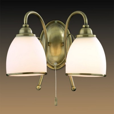 Светильник Odeon Light 2242/2W бронза MidaКлассические<br><br><br>S освещ. до, м2: 8<br>Тип лампы: накаливания / энергосбережения / LED-светодиодная<br>Тип цоколя: E27<br>Количество ламп: 2<br>Ширина, мм: 350<br>MAX мощность ламп, Вт: 60<br>Высота, мм: 240<br>Цвет арматуры: бронзовый