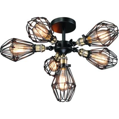 Светильник Divinare 2247/03 PL-6Потолочные<br><br><br>S освещ. до, м2: 10<br>Тип товара: Светильник потолочный<br>Тип цоколя: E27<br>Количество ламп: 5<br>Ширина, мм: 600<br>MAX мощность ламп, Вт: 40<br>Диаметр, мм мм: 600<br>Высота, мм: 340<br>Цвет арматуры: черный