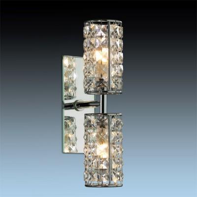Светильник Odeon Light 2248/2W хром ToriСнято с производства<br><br><br>S освещ. до, м2: 5<br>Крепление: планка<br>Тип лампы: галогенная / LED-светодиодная<br>Тип цоколя: G9<br>Количество ламп: 2<br>Ширина, мм: 75<br>MAX мощность ламп, Вт: 40<br>Расстояние от стены, мм: 122<br>Высота, мм: 285<br>Цвет арматуры: серебристый
