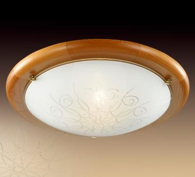 Светильник Сонекс 225 KALDAКруглые<br><br><br>S освещ. до, м2: 10<br>Тип товара: Настенно-потолочный светильник<br>Тип лампы: Накаливания / энергосбережения / светодиодная<br>Тип цоколя: E27<br>Количество ламп: 2<br>MAX мощность ламп, Вт: 100<br>Диаметр, мм мм: 380<br>Расстояние от стены, мм: 150<br>Цвет арматуры: коричневый