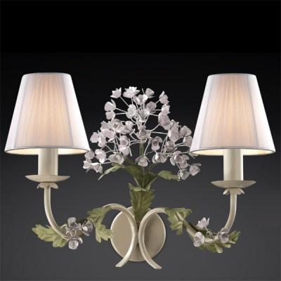 Светильник Odeon Light 2251/2W цветной SerenaФлористика<br><br><br>S освещ. до, м2: 8<br>Тип лампы: накаливания / энергосбережения / LED-светодиодная<br>Тип цоколя: E14<br>Количество ламп: 2<br>Ширина, мм: 340<br>MAX мощность ламп, Вт: 60<br>Расстояние от стены, мм: 200<br>Высота, мм: 290<br>Цвет арматуры: бежевый