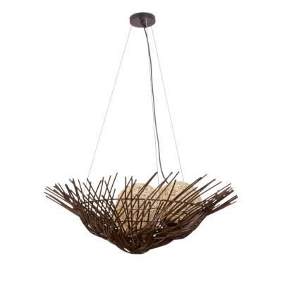 Люстра Mw light 226016203 РотангПлетеные из ротанга<br>Легендарная люстра в виде гнезда, как правило, очень востребована для дачи и террасы. Металлическое основание, плафон из натуральных волокон ротанга.<br><br>Установка на натяжной потолок: Да<br>S освещ. до, м2: 6<br>Крепление: Планка<br>Тип лампы: накаливания / энергосбережения / LED-светодиодная<br>Тип цоколя: E27<br>Количество ламп: 3<br>MAX мощность ламп, Вт: 40<br>Диаметр, мм мм: 700<br>Длина цепи/провода, мм: 750<br>Высота, мм: 950<br>Поверхность арматуры: матовый<br>Цвет арматуры: коричневый<br>Общая мощность, Вт: 120