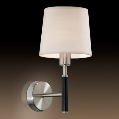 Светильник Odeon Light 2266/1W никель GlenКлассические<br><br><br>S освещ. до, м2: 2<br>Тип лампы: накаливания / энергосбережения / LED-светодиодная<br>Тип цоколя: E14<br>Цвет арматуры: серый<br>Количество ламп: 1<br>Ширина, мм: 180<br>Высота, мм: 295<br>MAX мощность ламп, Вт: 40