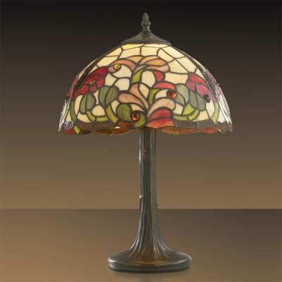 Светильник настольный Odeon light 2268/1T FloraТиффани<br>Настольная лампа – это не просто источник дополнительного освещения, но и оригинальный элемент декора. Его можно установить в спальне, гостиной, кабинете и других комнатах. Интернет-магазин «Светодом» предлагает настольные лампы разных стилей по доступным ценам. Благодаря большому ассортименту Вы обязательно найдете в нашем каталоге именно ту модель, которую искали.   Настольная лампа Odeon light 2268/1T  – прекрасный вариант для завершения интерьера. Ее можно включить одновременно с люстрой для более яркого освещения или без нее для создания уютной атмосферы, настраивающей на отдых.   Купить настольную лампу Odeon light 2268/1T  Вы можете с помощью виртуальной «Корзины» или по контактным номерам, указанным на сайте.<br><br>S освещ. до, м2: 4<br>Тип лампы: накаливания / энергосбережения / LED-светодиодная<br>Тип цоколя: E27<br>Количество ламп: 1<br>MAX мощность ламп, Вт: 60<br>Диаметр, мм мм: 310<br>Высота, мм: 490<br>Цвет арматуры: коричневый