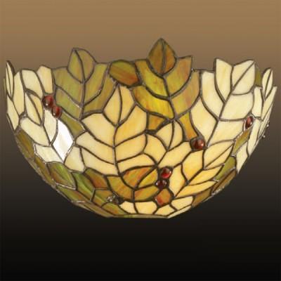 Светильник Odeon Light 2269/1W коричневый RizaТиффани<br><br><br>S освещ. до, м2: 4<br>Тип лампы: накаливания / энергосбережения / LED-светодиодная<br>Тип цоколя: E27<br>Количество ламп: 1<br>Ширина, мм: 310<br>MAX мощность ламп, Вт: 60<br>Высота, мм: 170<br>Цвет арматуры: коричневый