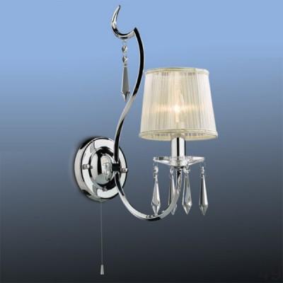 Светильник Odeon Light 2272/1W хромPersaКлассика<br><br><br>S освещ. до, м2: 2<br>Тип товара: Светильник настенный бра<br>Скидка, %: 40<br>Тип лампы: накаливания / энергосбережения / LED-светодиодная<br>Тип цоколя: E14<br>Количество ламп: 1<br>Ширина, мм: 140<br>MAX мощность ламп, Вт: 40<br>Высота, мм: 300<br>Цвет арматуры: серебристый